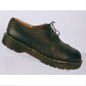 Dr Martens Men's Brown Leather Wingtip Oxfords 10